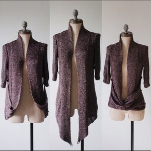Anthropologie Sweaters - Anthropologie Moth Draped Shimmer Pin Up Cardigan